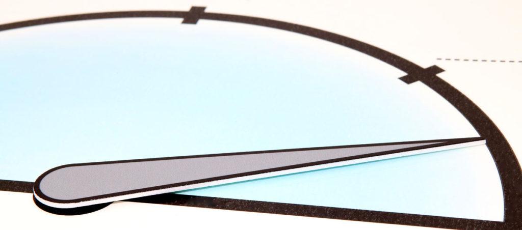 Magnetisk visare i plast, till mätare