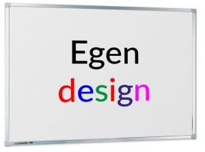 Whiteboardtavla med egendesignat tryck i färg i tavlan