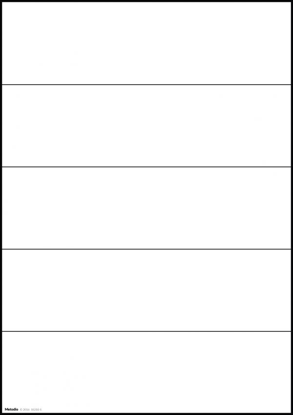 Modul i serien Byggbar Tabell med 5 rader - T5