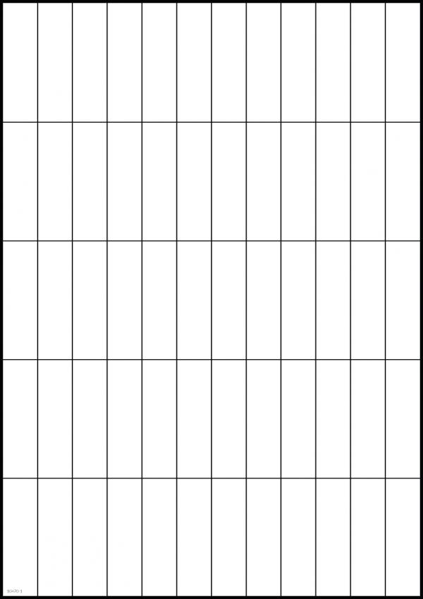 Tabell 30 cm byggbar och magnetisk, 12 kolumner och 5 rader