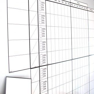 Byggbar tabell för planeringstavla Lean