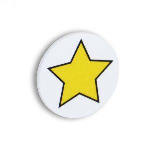 Magnetisk stjärna, gul med vit bakgrund