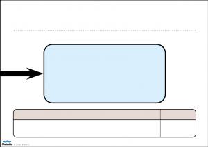 Fiskhuvud till byggbart fiskbensdiagram.