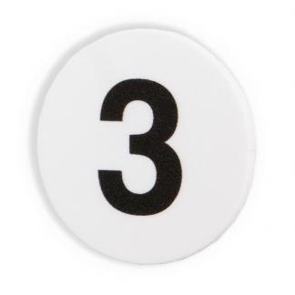 Magnet med siffran tre, 3