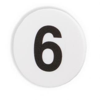 Magnet med siffran sex 6