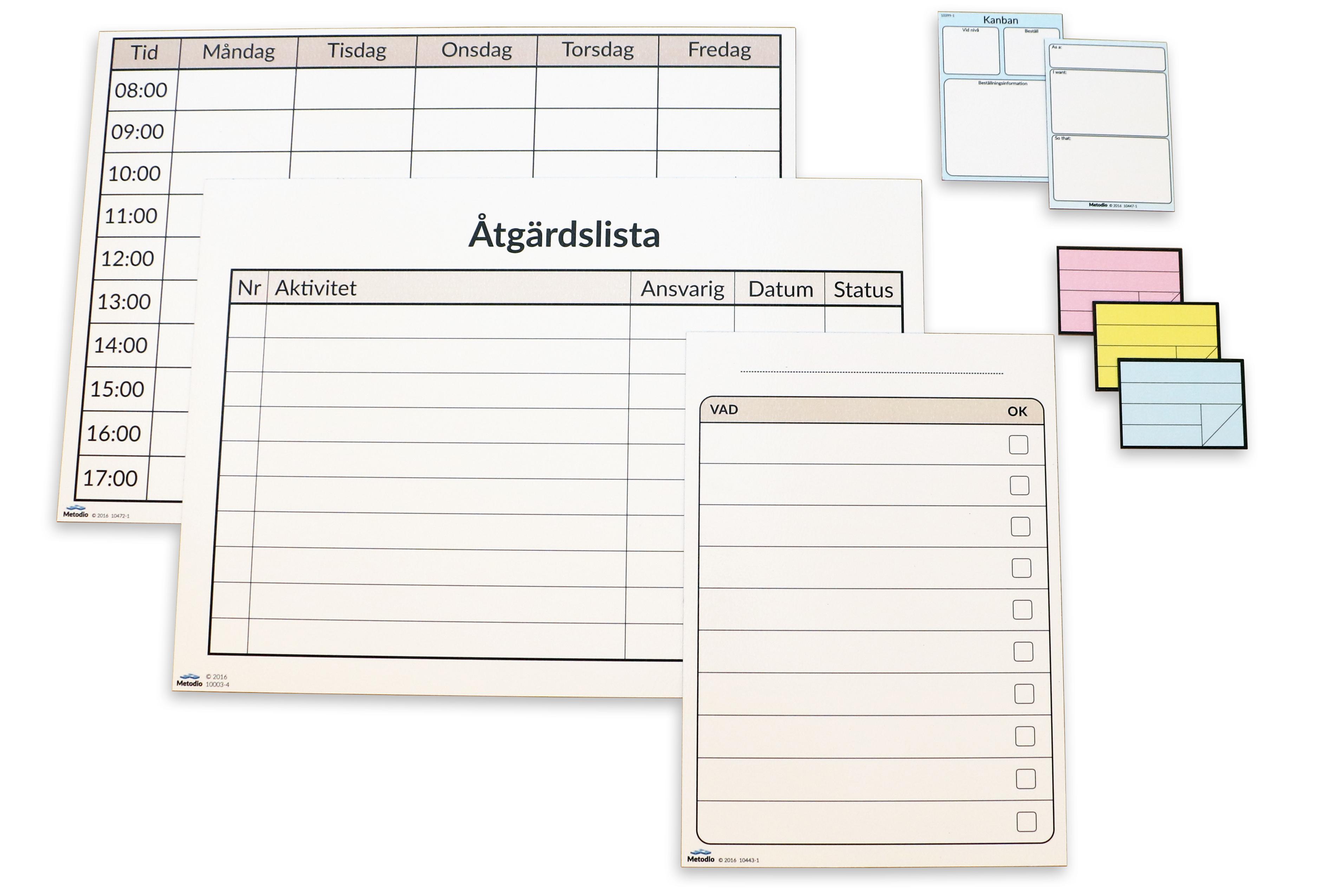 Designa din egen whiteboardtavla Lean Production, Administration och Healthcare