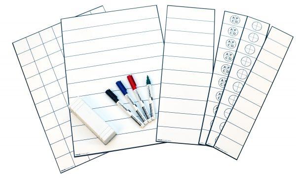 Byggbar tabell för pulstavla, skrivbara magnetark med 10 rader