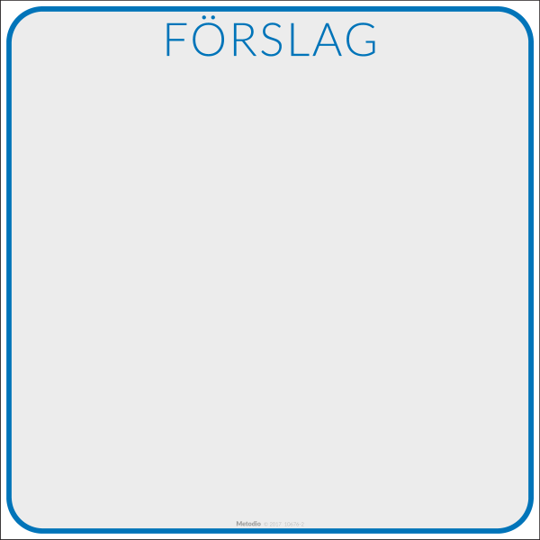 Förslagsruta för post-it lappar, till whiteboard