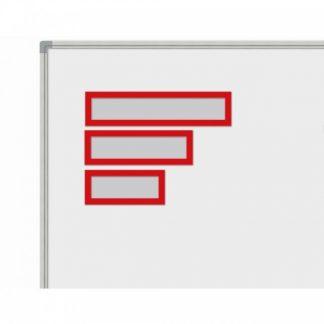 Magnetisk rubrikficka för A3, svart, set om 5 stycken