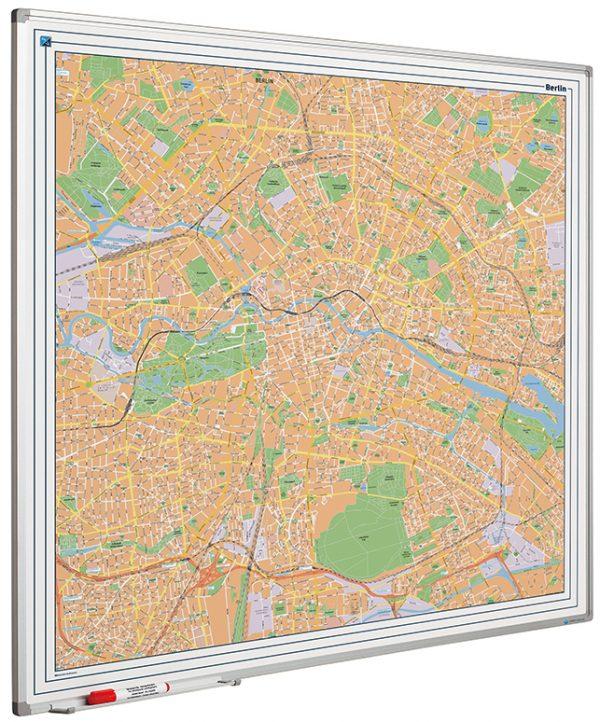 stadskarta Berlin på whiteboard, Berlin city map on whiteboard