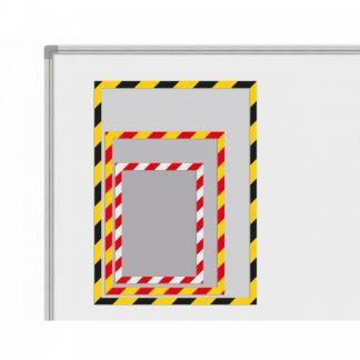 Magnetfickor med gul/svart ram A3, set om 5 stycken