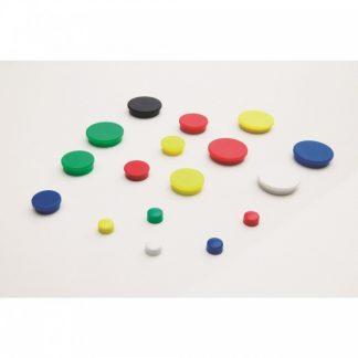 Magneter, set om 10 stycken, Ø 30 mm svart