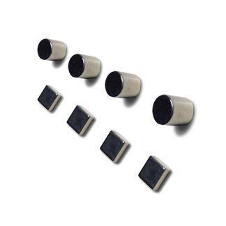 Magneter för glastavlor, CYLINDER 4 stycken,  Ø 10x10 mm