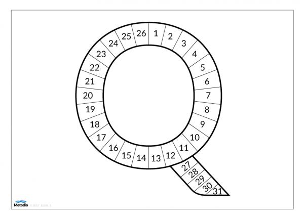 Magnetisk uppföljningsbokstav Q, 31 dagar